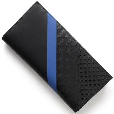 エンポリオアルマーニ EMPORIO ARMANI 長財布 PORTA YEN ブラック&ブルー YEM474 YKS2V 81072 メンズ