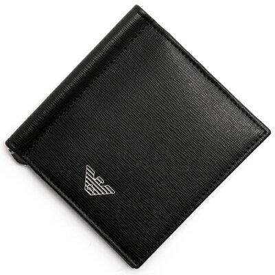 エンポリオアルマーニ EMPORIO ARMANI 二つ折財布【札入れ】 PORTAFOGLIO VITELLO STAMPA ブラック YEML07 YC91E 80001 メンズ