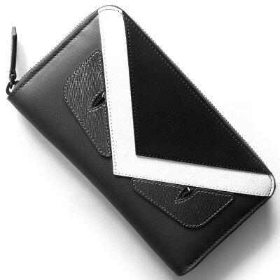 フェンディ FENDI 長財布 モンスター MONSTER アスファルトグレー&グラファイトブラック&ホワイト 7M0210 8FJ F06HP メンズ レディース