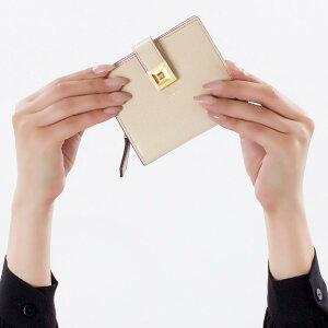 フェンディ 二つ折り財布/ミニ財布 財布 レディース レインボー スモール ヌーヴォラベージュ&ペオニアピンク 8M0386 SWD F136W FENDI