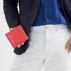 フェリージ 二つ折り財布 財布 メンズ クロコ型押し カードケースセット フクシアピンク 452 SA 0031 2018年春夏新作 FELISI