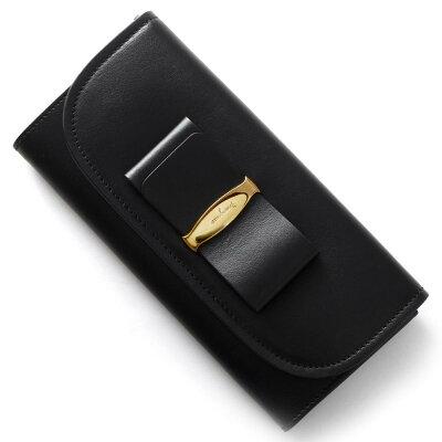 フェラガモ 長財布 財布 レディース ヴァラ VARA リボン ブラック 22C690 NER 0660404 SALVATORE FERRAGAMO