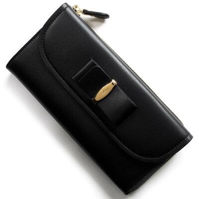 フェラガモ 長財布 財布 レディース ヴァラリボン VARA ブラック 22C702 NER 0660424 SALVATORE FERRAGAMO