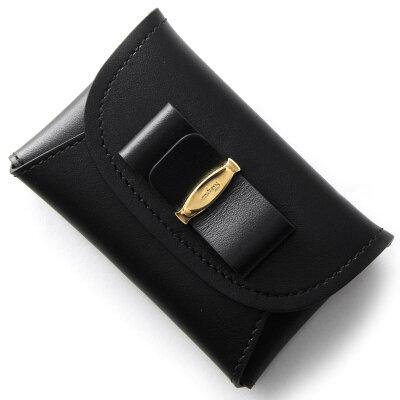 フェラガモ コインケース【小銭入れ】 財布 レディース ヴァラ VARA リボン ブラック 22C704 NER 0660434 SALVATORE FERRAGAMO