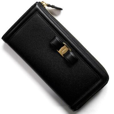 フェラガモ 長財布 財布 レディース ヴァラリボン VARA ブラック 22C907 NER 0673728 SALVATORE FERRAGAMO