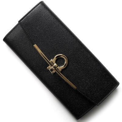 フェラガモ 長財布 財布 レディース ガンチーニ ブラック 22D150 NER 0683312 2018年春夏新作 SALVATORE FERRAGAMO