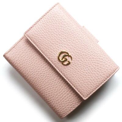 グッチ 二つ折り財布 財布 レディース プチマーモント ライトピンク 456122 CAO0G 5909 GUCCI