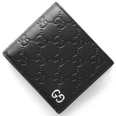 グッチ GUCCI 二つ折財布 ドリアン GGシグネチャー DORIAN GG SIGNATURE ブラック 473922 CWC1N 1000 メンズ