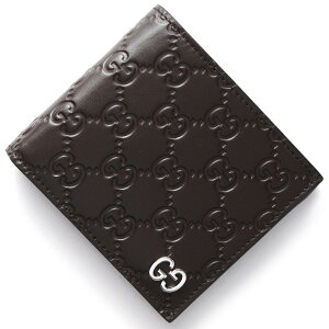 グッチ GUCCI 二つ折財布 ドリアン GGシグネチャー DORIAN GG SIGNATURE ダークブラウン 473922 CWC1N 2140 メンズ