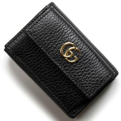 グッチ 三つ折り財布/ミニ財布 財布 レディース プチマーモント ブラック 523277 CAO0G 1000 GUCCI
