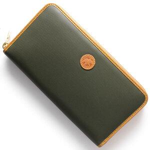 ハンティングワールド HUNTING WORLD 長財布 BATTUE ORIGIN グリーン&ビンテージナチュラル 827 1A0 メンズ