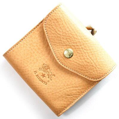 イルビゾンテ IL BISONTE 三つ折財布 スタンダード STANDARD ナチュラル C0423 P 120 メンズ レディース
