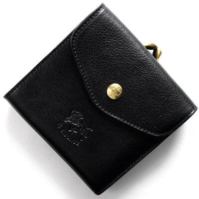 イルビゾンテ IL BISONTE 三つ折財布 スタンダード STANDARD ブラック C0423 P 153 メンズ レディース