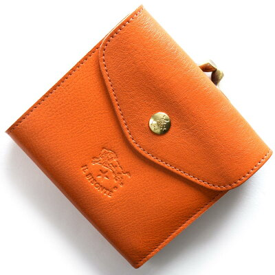 イルビゾンテ IL BISONTE 三つ折財布 スタンダード STANDARD オレンジ C0423 P 166 メンズ レディース