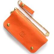 イルビゾンテ IL BISONTE 長財布 オレンジ C0486 P 166 メンズ レディース