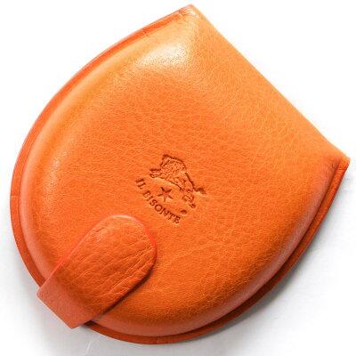 イルビゾンテ IL BISONTE コインケース【小銭入れ】 スタンダード STANDARD オレンジ C0543 P 166 メンズ レディース