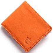 イルビゾンテ IL BISONTE 二つ折財布 スタンダード 【STANDARD】 オレンジ C0817 P 166 メンズ レディース