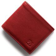 イルビゾンテ IL BISONTE 二つ折財布 スタンダード STANDARD ロッソレッド C0817 P 245 メンズ レディース