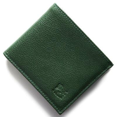 イルビゾンテ IL BISONTE 二つ折財布 スタンダード STANDARD グリーン C0817 P 293 メンズ