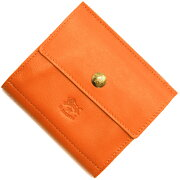 イルビゾンテ IL BISONTE 二つ折財布 オレンジ C0910 P 166 メンズ レディース
