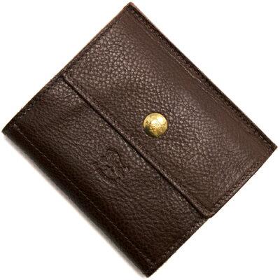 イルビゾンテ IL BISONTE 二つ折り財布 モカブラウン C0910 P 455 メンズ レディース