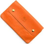 イルビゾンテ IL BISONTE 長財布 オレンジ C0937 P 166 メンズ レディース