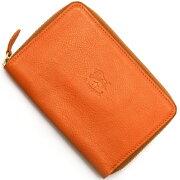 イルビゾンテ IL BISONTE 二つ折財布 オレンジ C0944 P 166 メンズ レディース