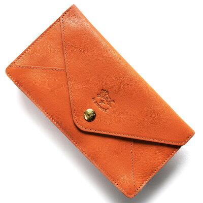 イルビゾンテ IL BISONTE 長財布 スタンダード STANDARD オレンジ C0987 P 166 メンズ レディース