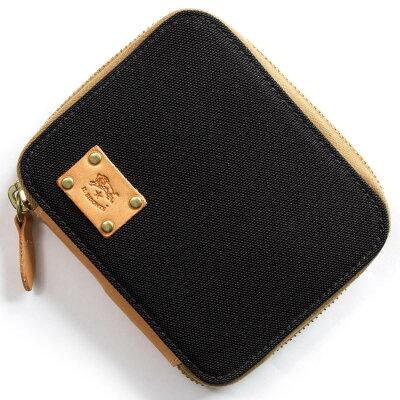 イルビゾンテ IL BISONTE 二つ折り財布 ブラック&ナチュラル C1006 NY T556 メンズ レディース