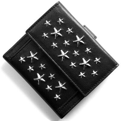 ジミーチュウ JIMMY CHOO 二つ折財布 フリーダ FRIDA ブラック FRIDA CST BLACK 2018年春夏新作 メンズ レディース