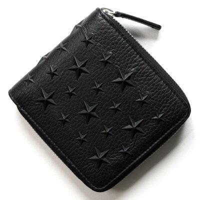 ジミーチュウ 二つ折り財布 財布 メンズ ローレンス LAWRENCE ブラック LAWRENCE EMG BLK JIMMY CHOO