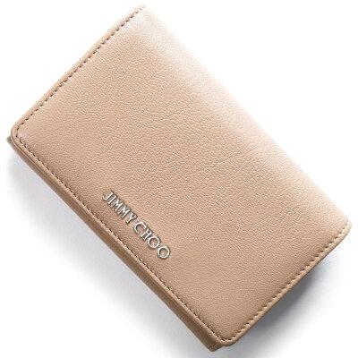 ジミーチュウ JIMMY CHOO 二つ折り財布 マーリー MARLIE バレエピンクベージュ MARLIE GRZ BPI レディース