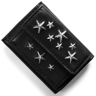 ジミーチュウ JIMMY CHOO 三つ折り財布 ネモ NEMO スタースタッズ STARS ブラック NEMO CST BLK メンズ レディース