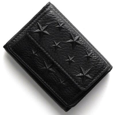ジミーチュウ JIMMY CHOO 三つ折り財布 ネモ NEMO ブラック NEMO EMG BLK 2017年秋冬新作 メンズ レディース