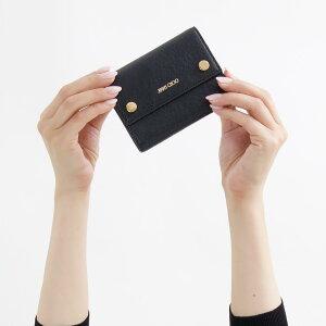 ジミーチュウ 三つ折り財布 財布 レディース ルイーザ ブラック LOUISA GNL 184 BLACK 2018年秋冬新作 JIMMY CHOO