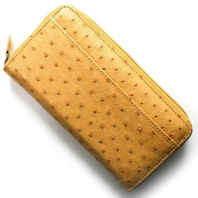 本革 Leather 長財布 オーストリッチ OSTRICH チェスナットライトブラウン OKN1824H CN メンズ レディース