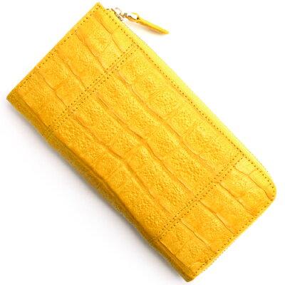 本革 Leather 長財布【札入れ】 クロコダイル 【CROCODILE】 フェリーイエロー R50002 メンズ レディース