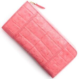 本革 Leather 長財布【札入れ】 クロコダイル 【CROCODILE】 ポルポラピンク R50002 レディース