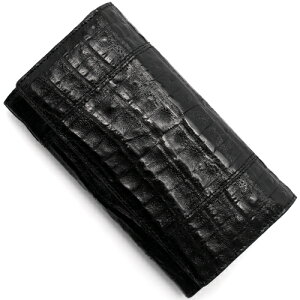 本革 Leather 長財布 クロコダイル 【CROCODILE】 ブラック R50003 メンズ レディース