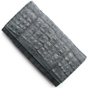 本革 Leather 長財布 クロコダイル 【CROCODILE】 グレー R50003 GRE メンズ レディース