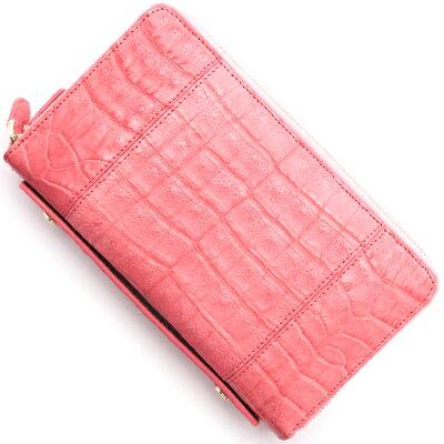 本革 Leather 長財布/パスポートケース クロコダイル 【CROCODILE】 ポルポラピンク R50004 POR レディース