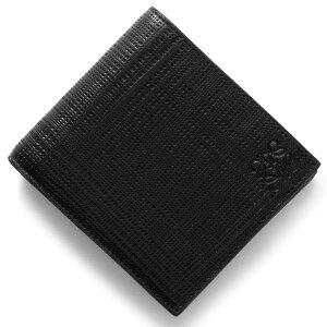 ロエベ LOEWE 二つ折財布 リネン LINEN ブラック 101 501 88 1100 2017年秋冬新作 メンズ
