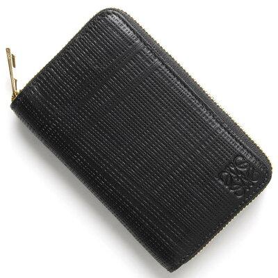 ロエベ LOEWE カードケース/コインケース【小銭入れ】 CREMALLERA LINEN ブラック 101 J56 88 1100 レディース