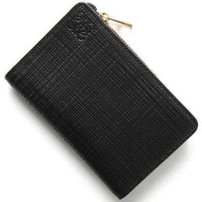 ロエベ コインケース【小銭入れ】/カードケース 財布 レディース CREMALLERA LINEN ブラック 101 P30 88 1100 LOEWE