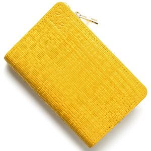 ロエベ LOEWE コインケース【小銭入れ】/カードケース CREMALLERA LINEN イエロー 101 P30 88 8100 レディース