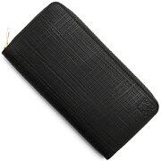 ロエベ LOEWE 長財布 リネン 【LINEN】 ENGRAVED ブラック 101 N88 1100 F13 レディース
