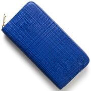 ロエベ LOEWE 長財布 CREMALLERA LINEN エレクトリックブルー 101 F13 N88 5560 レディース