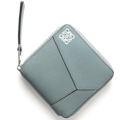 ロエベ LOEWE 二つ折財布 PUZZLE ストーンブルー 122 M88 89 5900 レディース