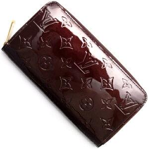 ルイヴィトン Louis Vuitton 長財布 モノグラム ジッピー ヴェルニ アマラントパープル M93522 レディース