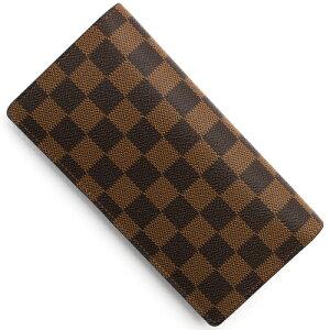 ルイヴィトン Louis Vuitton 長財布 ダミエ ポルトフォイユ ブラザ チョコレート N60017 メンズ レディース